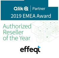 Qlik Award für effeqt, den Authorised reseller of the Year 2019