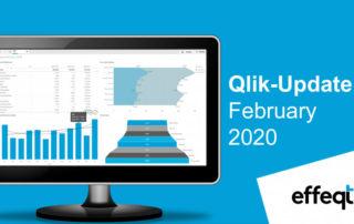Ein Bildschirm der das Qlik-Update February 2020 zeigt