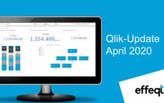 Ein Bildschirm der das Qlik-Update April 2020 zeigt