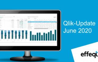Ein Bildschirm der das Qlik-Update June 2020 zeigt