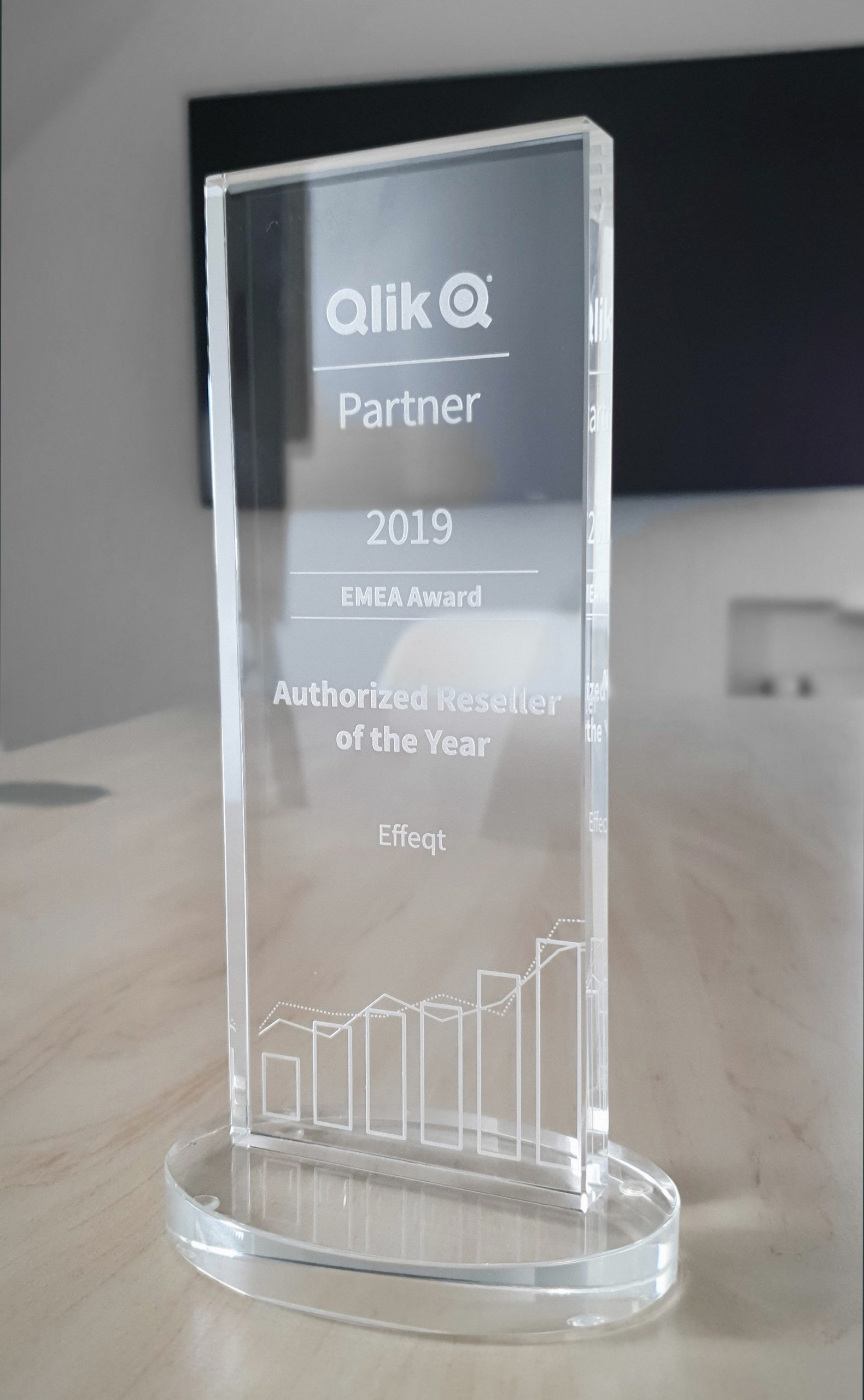 Der Pokal als reseller of the year