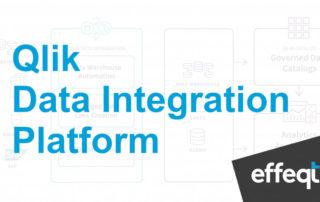 Der Schriftzug Qlik Data Integration Palttform