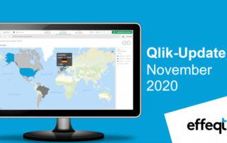 Ein Bildschirm der das Qlik-Update November 2020 zeigt
