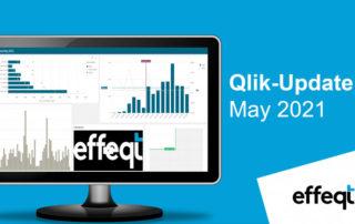 Ein Bildschirm der das Qlik-Update May 2021 zeigt