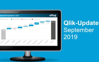 Ein Bildschirm der das Qlik Update September 2019 zeigt